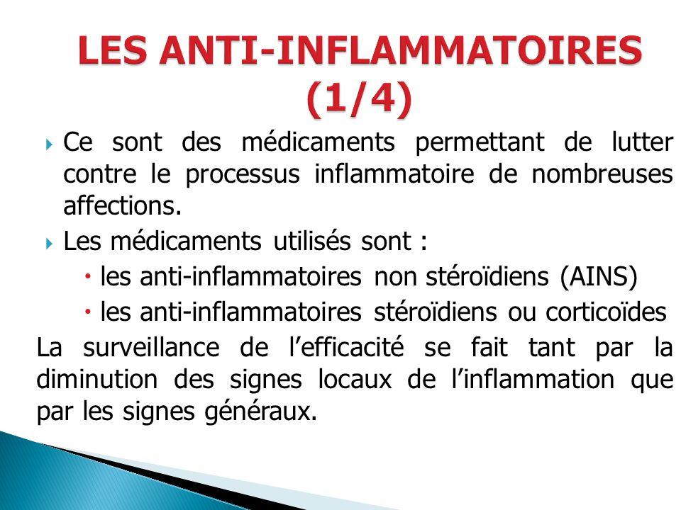 LES ANTI-INFLAMMATOIRES (1/4)