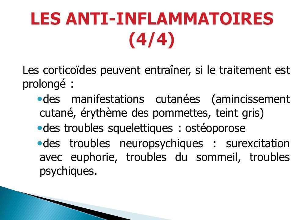 LES ANTI-INFLAMMATOIRES (4/4)