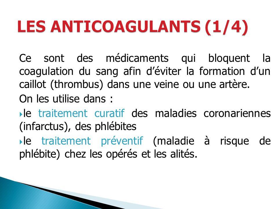 LES ANTICOAGULANTS (1/4)