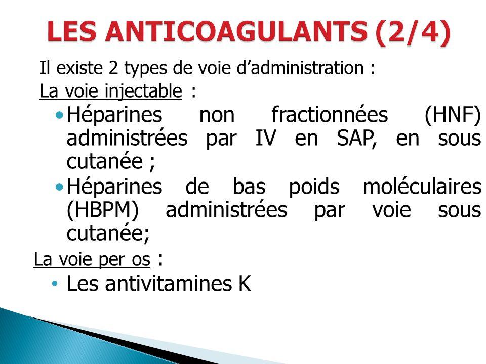 LES ANTICOAGULANTS (2/4)
