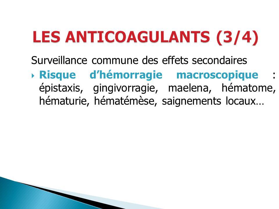 LES ANTICOAGULANTS (3/4)