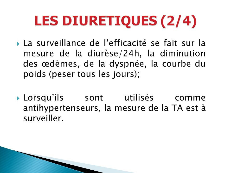 LES DIURETIQUES (2/4)
