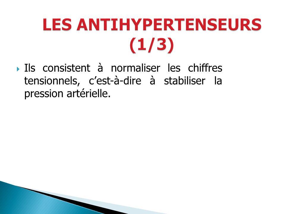 LES ANTIHYPERTENSEURS (1/3)