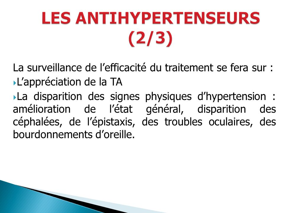 LES ANTIHYPERTENSEURS (2/3)