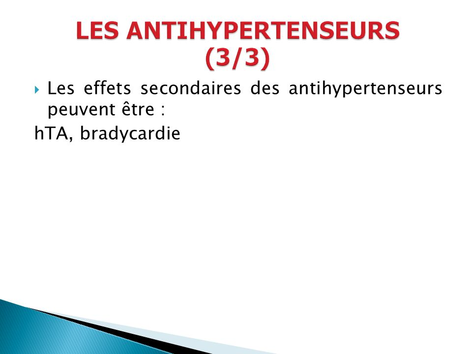 LES ANTIHYPERTENSEURS (3/3)