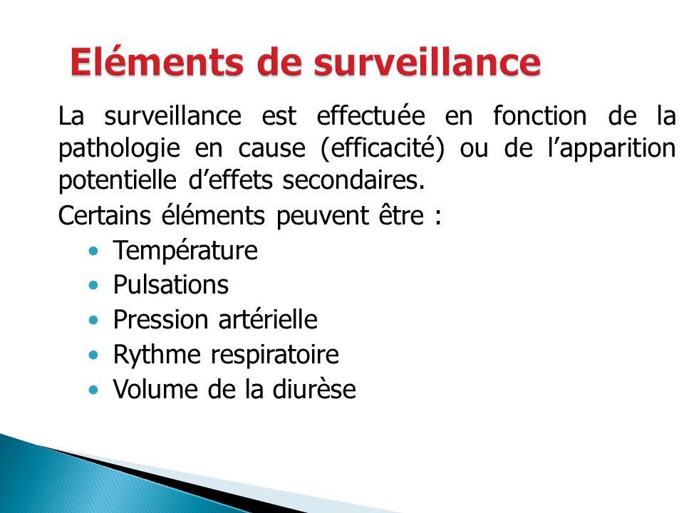 Eléments de surveillance