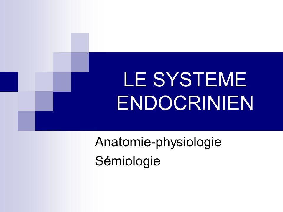 LE SYSTEME ENDOCRINIEN