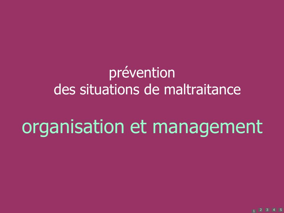 organisation et management