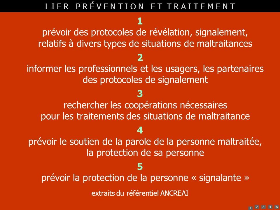 5 prévoir la protection de la personne « signalante »