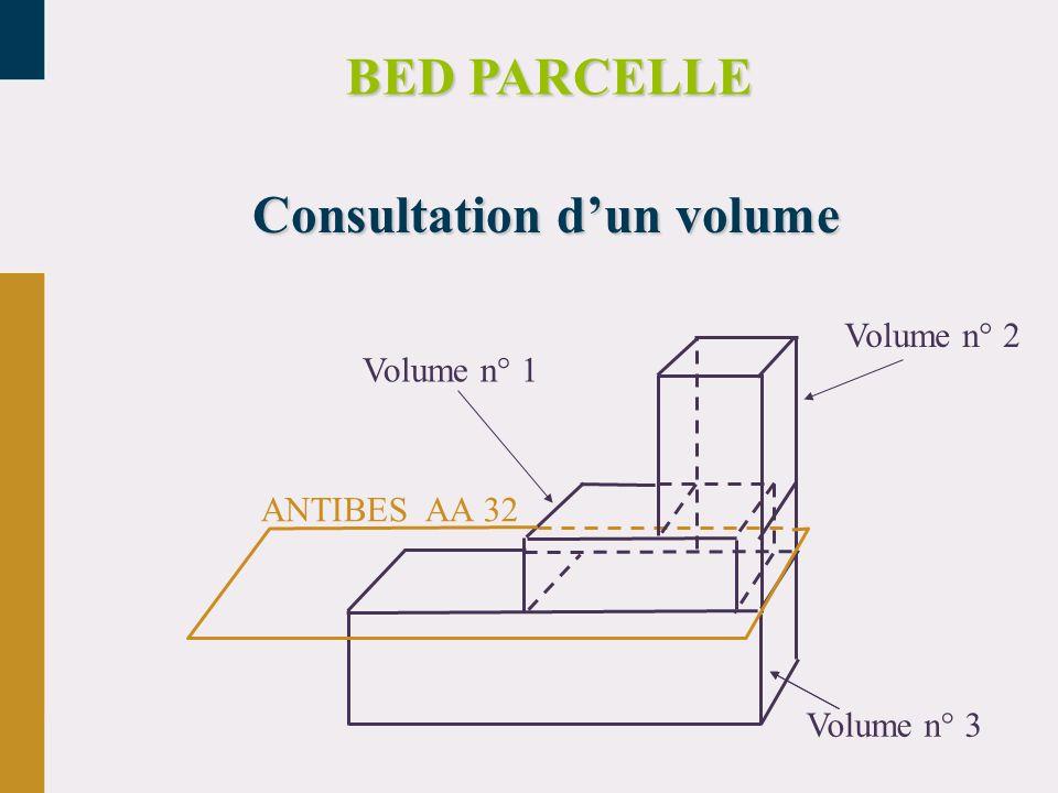 Consultation d'un volume