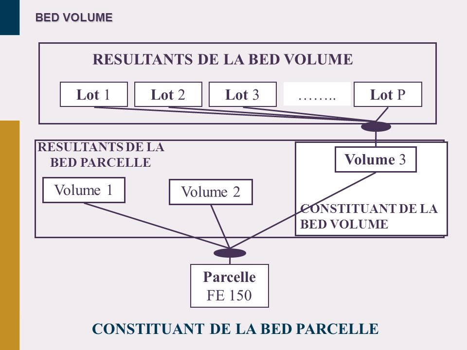 RESULTANTS DE LA BED VOLUME