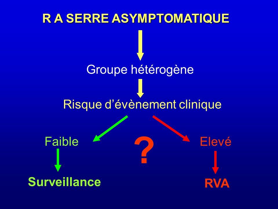 R A SERRE ASYMPTOMATIQUE Groupe hétérogène