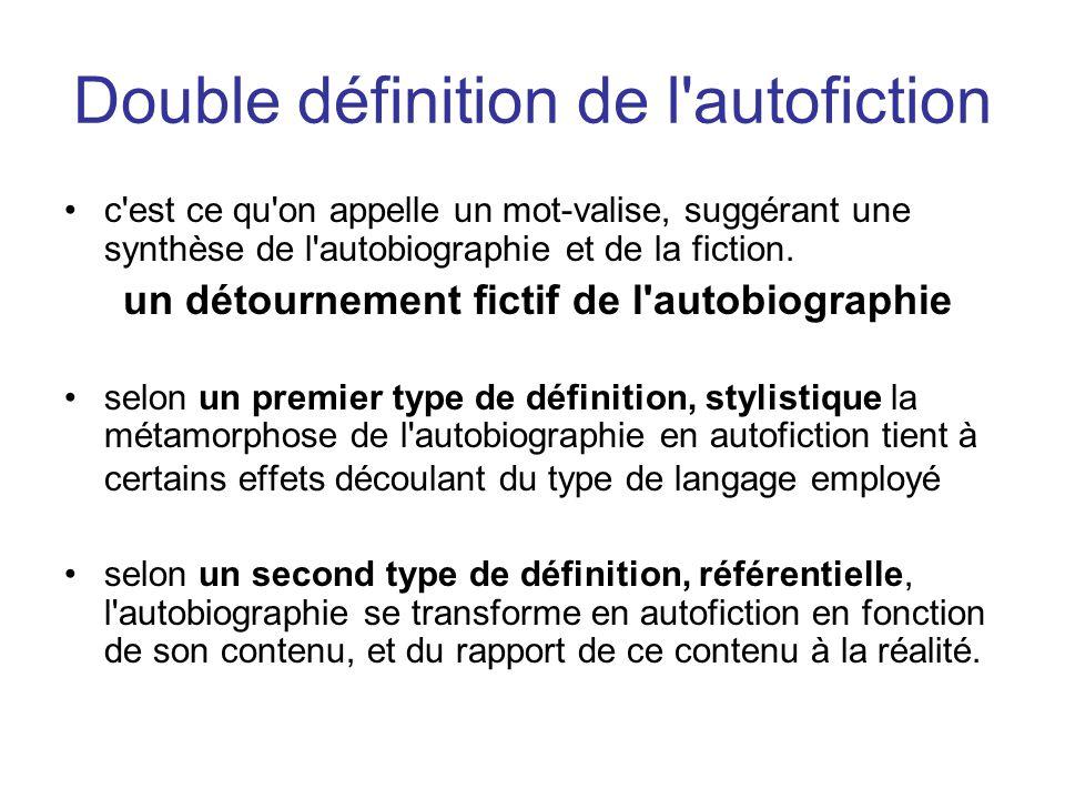Double définition de l autofiction