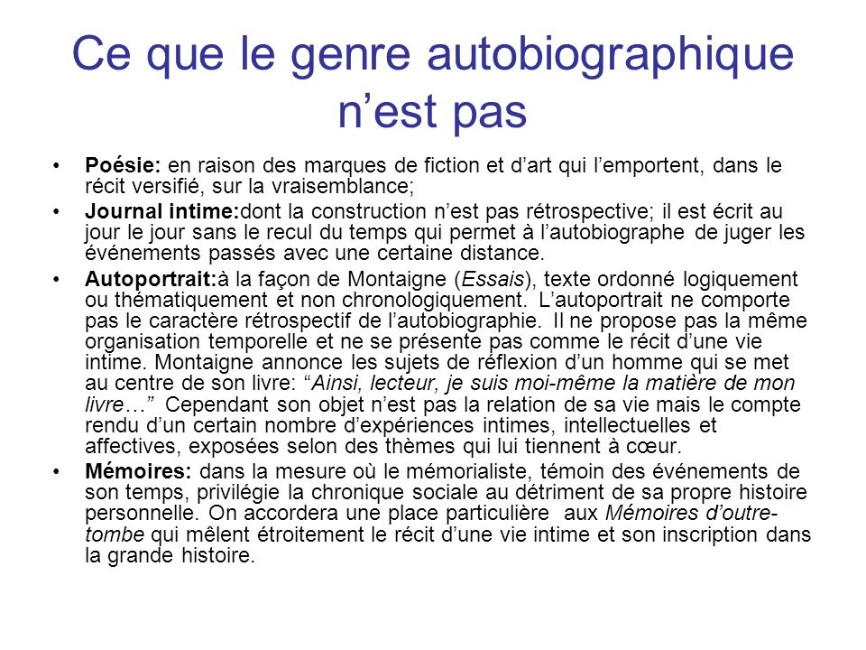 autobiographie autofiction ppt t l charger