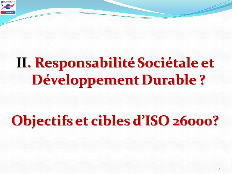 II. Responsabilité Sociétale et Développement Durable
