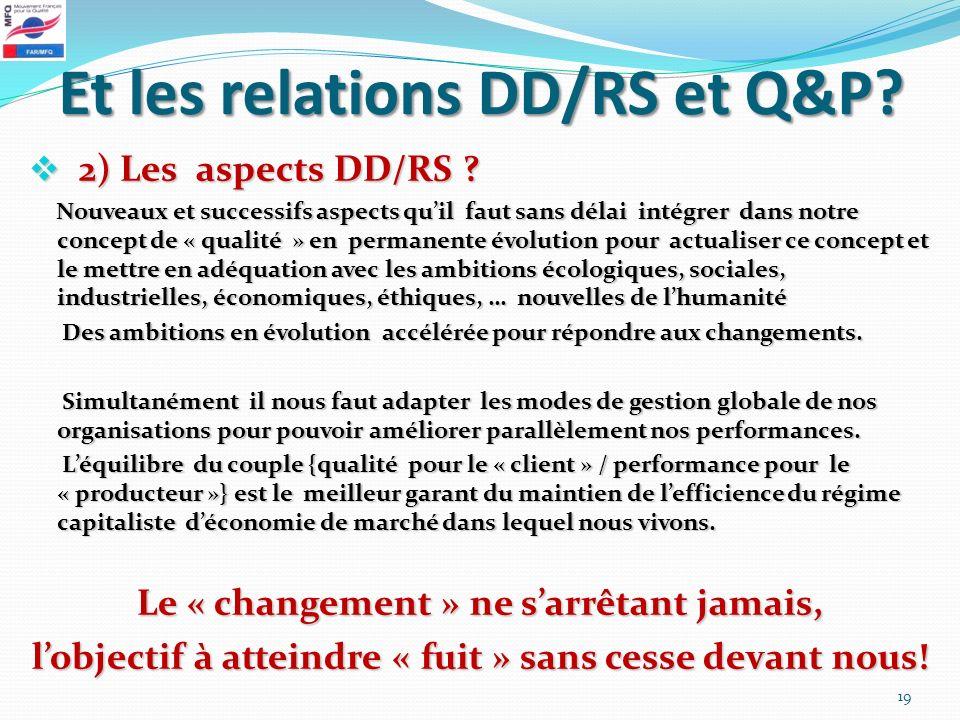 Et les relations DD/RS et Q&P