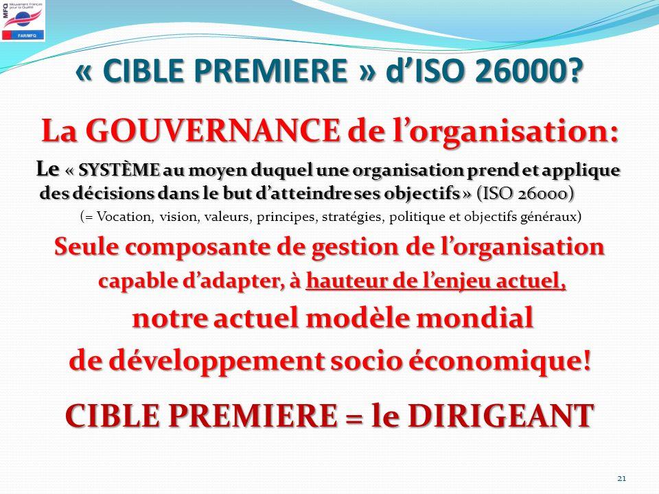 « CIBLE PREMIERE » d'ISO 26000