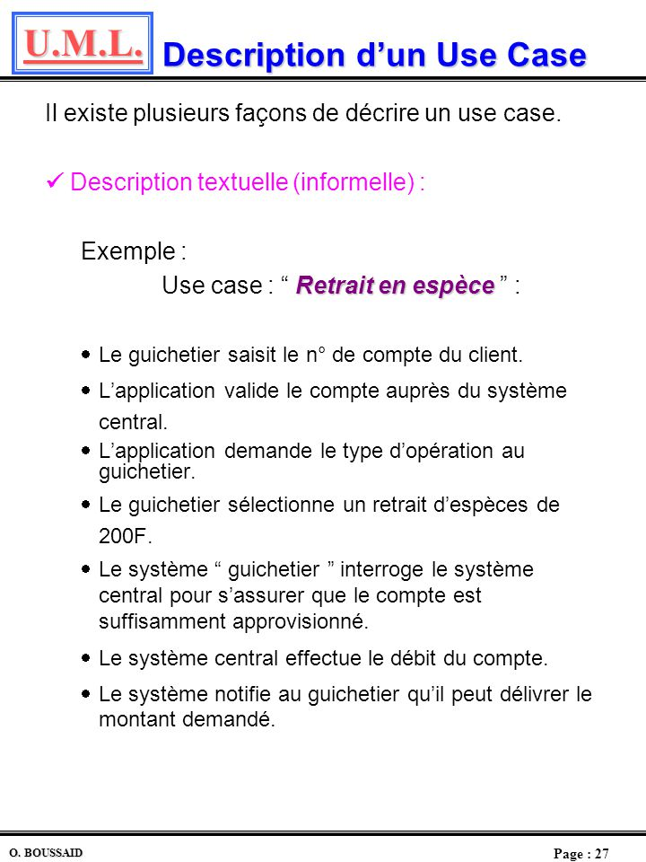 Description d'un Use Case