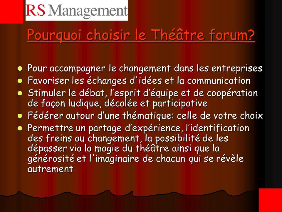 Pourquoi choisir le Théâtre forum
