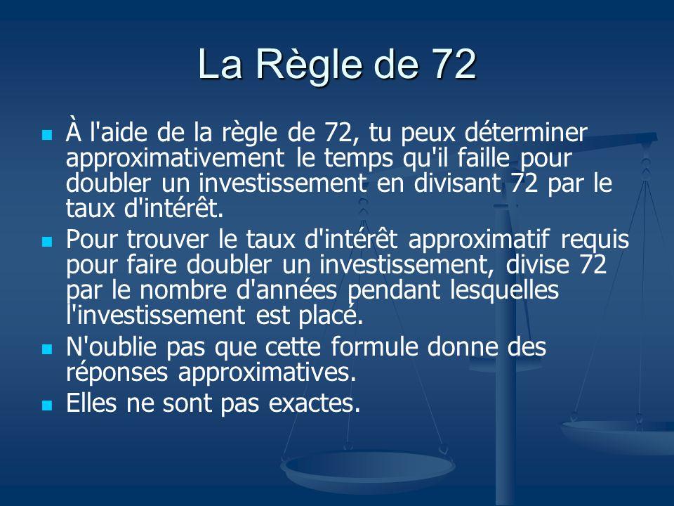 La Règle de 72