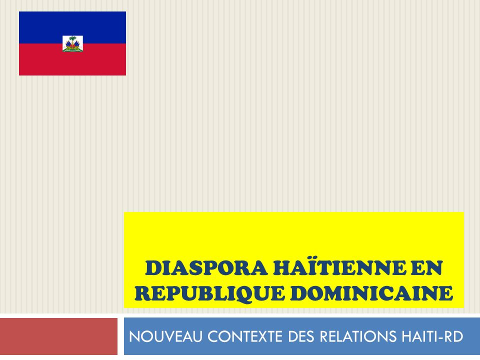 Diaspora haïtienne en REPUBLIQUE DOMINICAINE