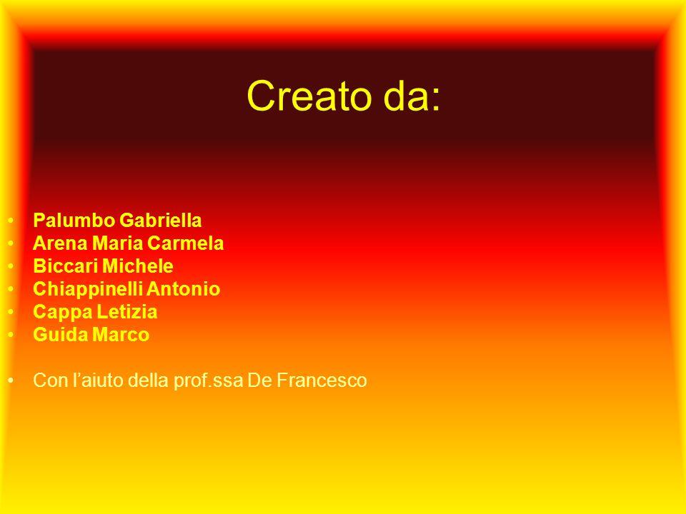 Creato da: Palumbo Gabriella Arena Maria Carmela Biccari Michele