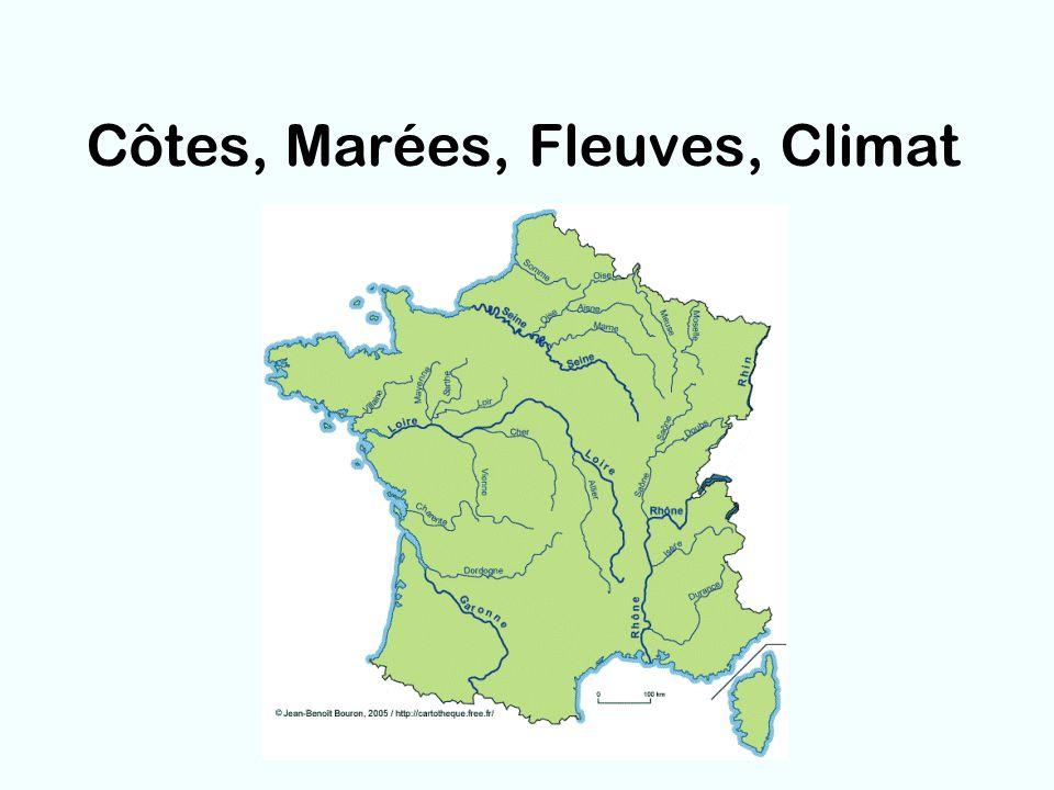 Côtes, Marées, Fleuves, Climat