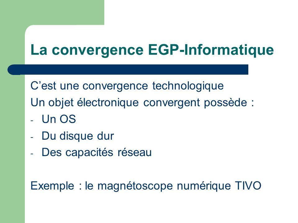 La convergence EGP-Informatique
