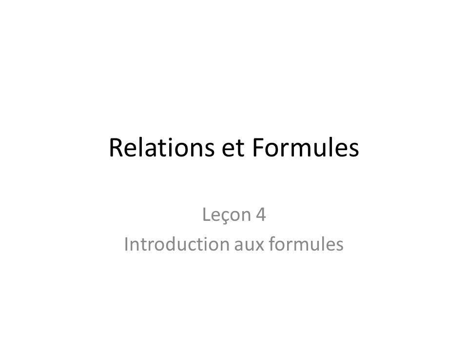Leçon 4 Introduction aux formules