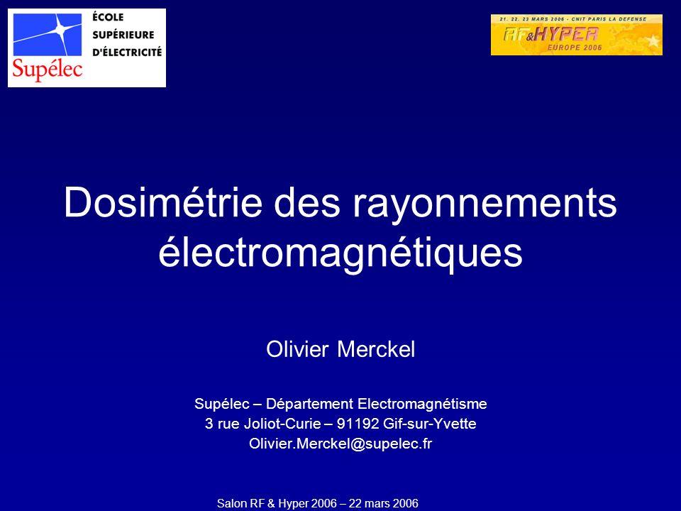 Dosimétrie des rayonnements électromagnétiques