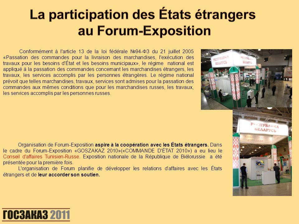 La participation des États étrangers