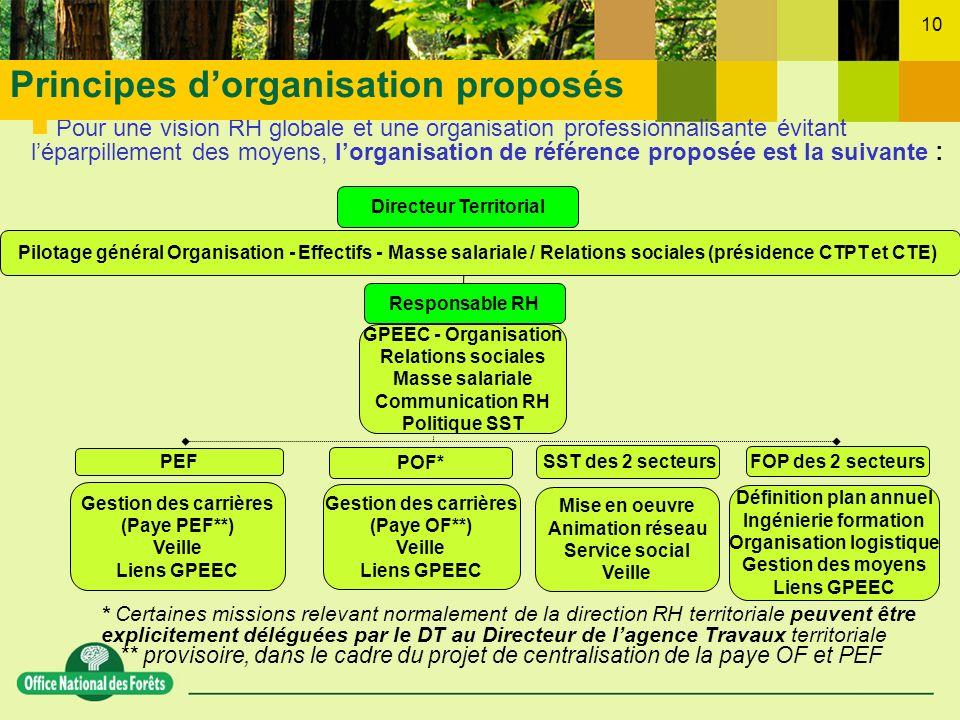 Directeur Territorial Définition plan annuel