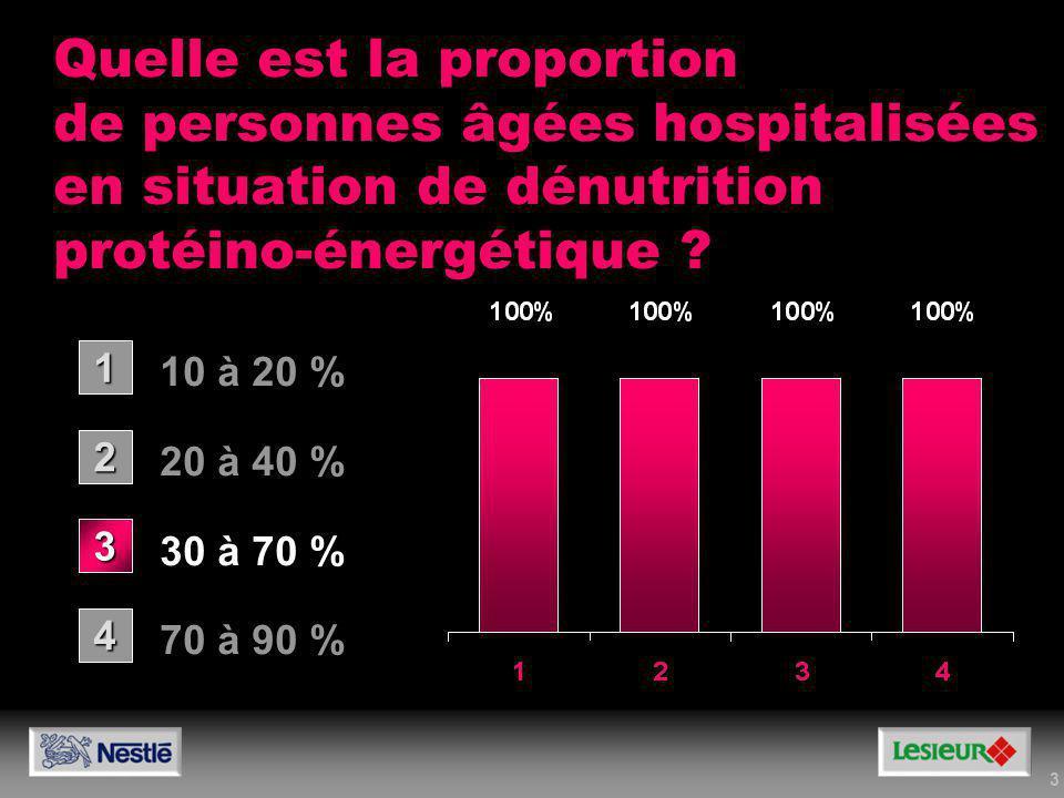 Quelle est la proportion de personnes âgées hospitalisées en situation de dénutrition protéino-énergétique