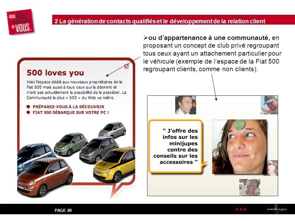 2 La génération de contacts qualifiés et le développement de la relation client