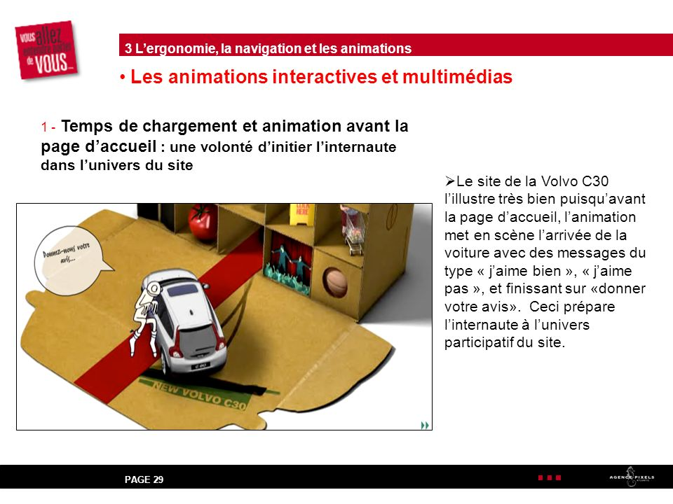 Les animations interactives et multimédias
