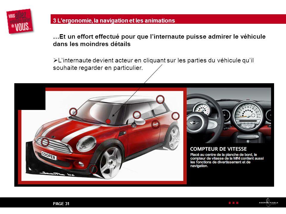 3 L'ergonomie, la navigation et les animations