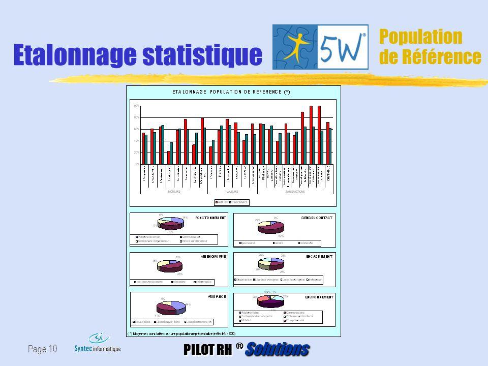 Etalonnage statistique