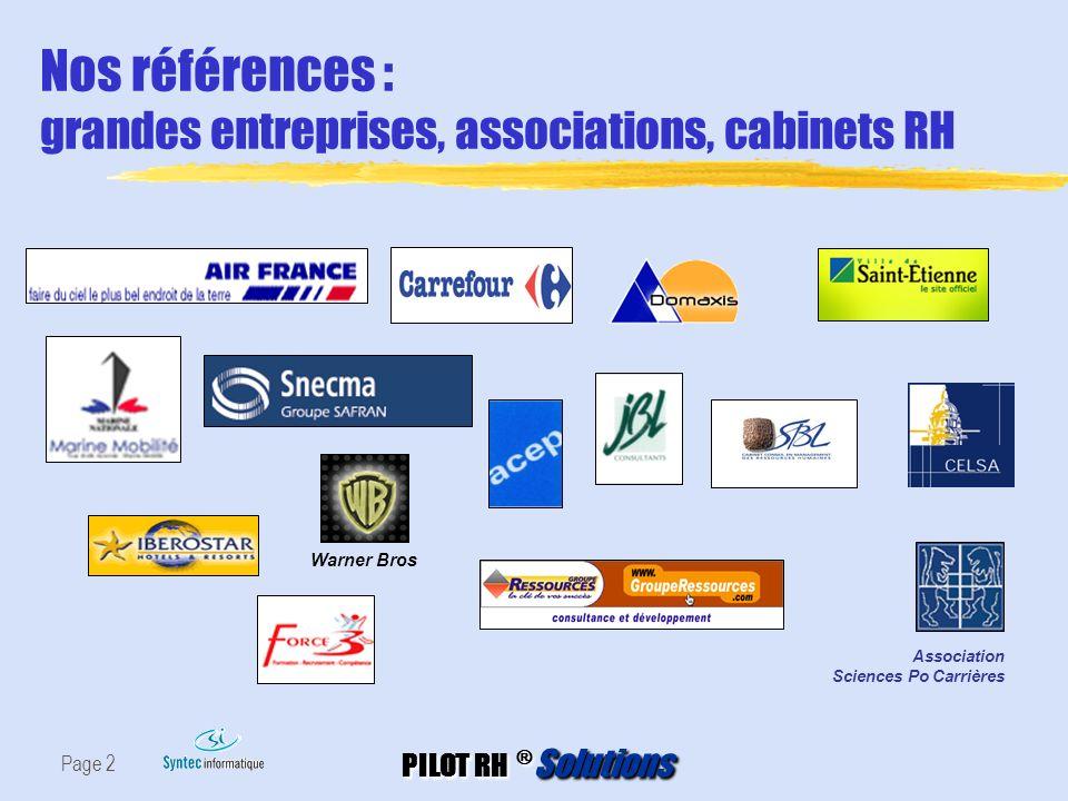 Nos références : grandes entreprises, associations, cabinets RH