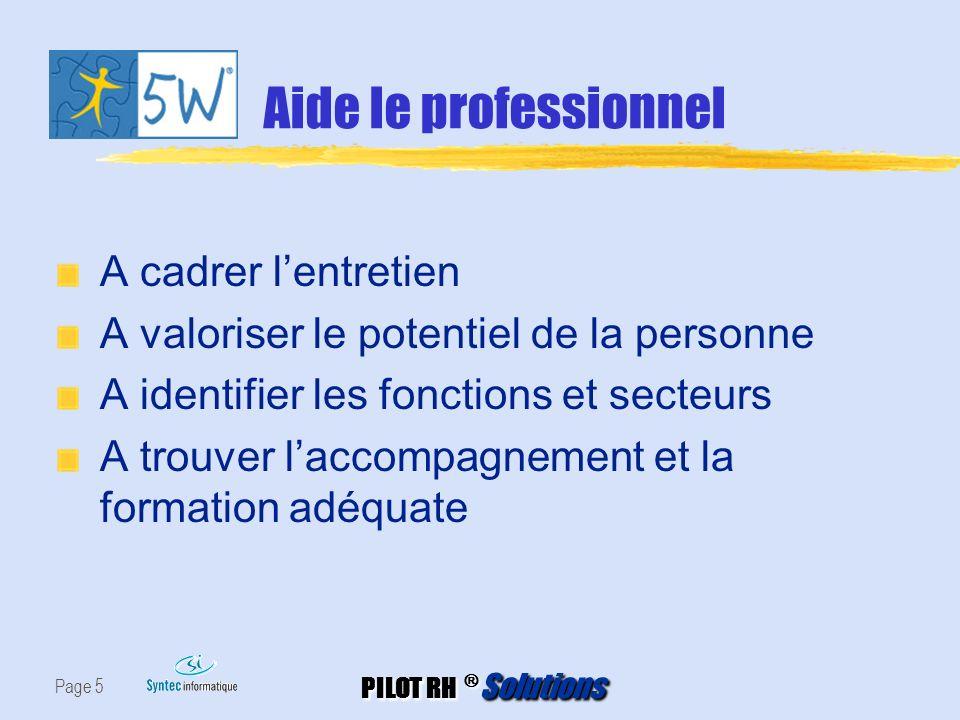 Aide le professionnel A cadrer l'entretien