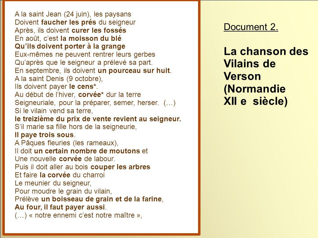 La chanson des Vilains de Verson (Normandie