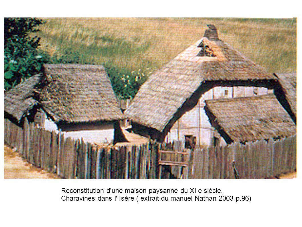 Reconstitution d une maison paysanne du XI e siècle, Charavines dans l Isère ( extrait du manuel Nathan 2003 p.96)