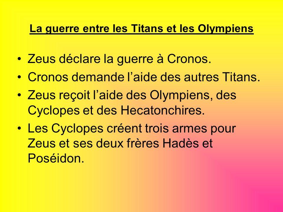 La guerre entre les Titans et les Olympiens