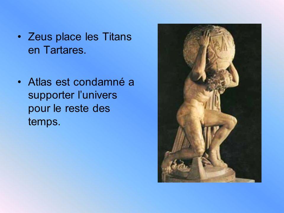 Zeus place les Titans en Tartares.