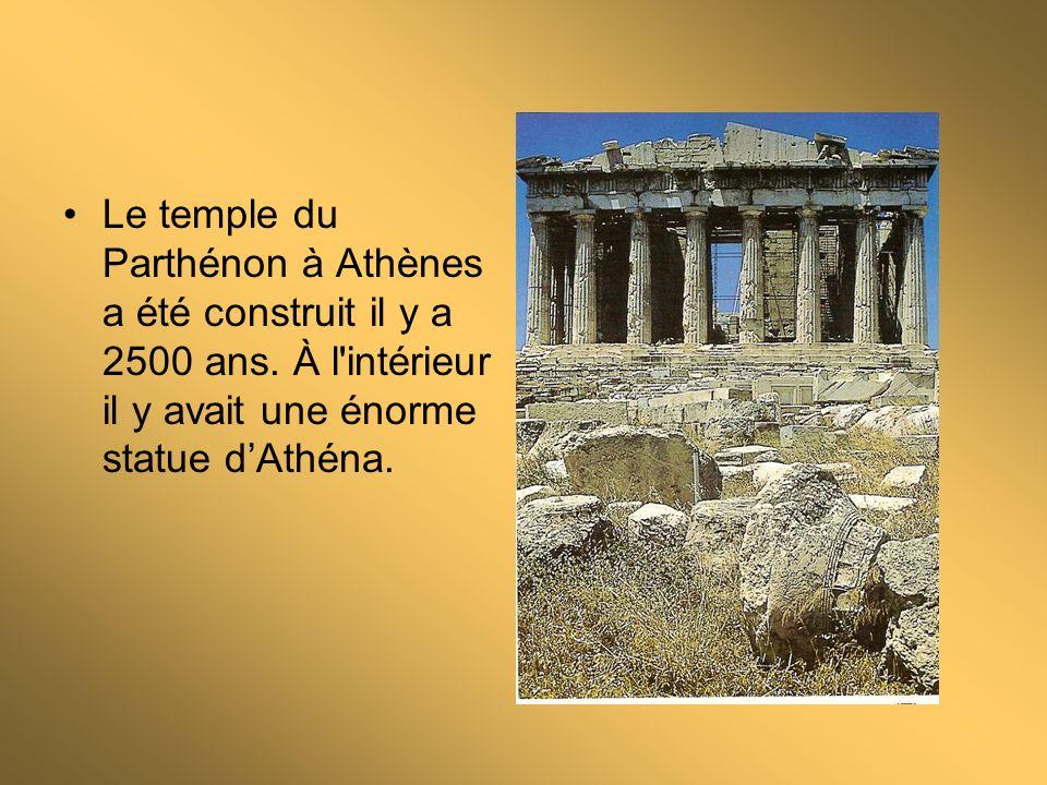 Le temple du Parthénon à Athènes a été construit il y a 2500 ans