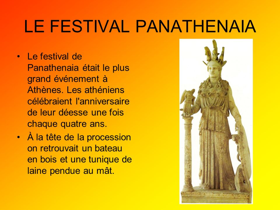 LE FESTIVAL PANATHENAIA