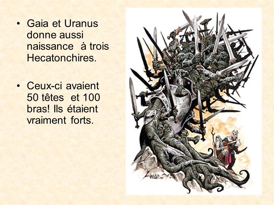 Gaia et Uranus donne aussi naissance à trois Hecatonchires.