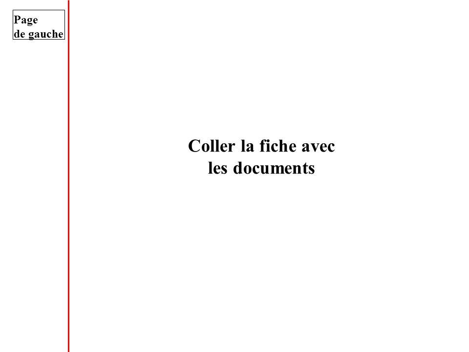 Coller la fiche avec les documents