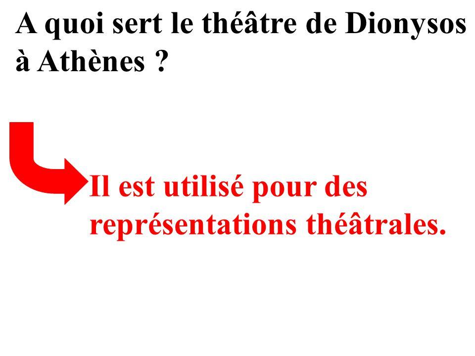 A quoi sert le théâtre de Dionysos