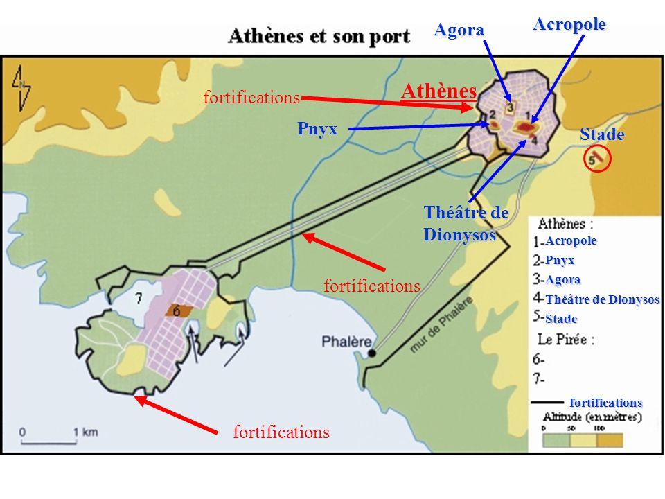 Athènes Acropole Agora fortifications Pnyx Stade Théâtre de Dionysos