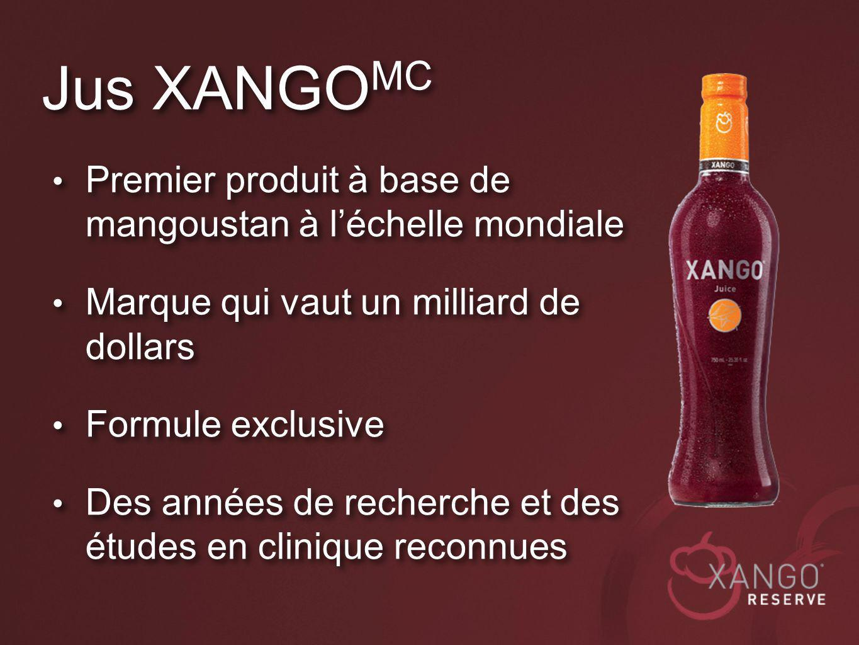 Jus XANGOMC Premier produit à base de mangoustan à l'échelle mondiale